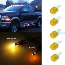 5x Amber Clearance Cab Marker Roof Light Ceramics LED Bulbs For 03-16 Dodge Ram