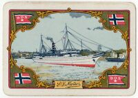 Playing Cards 1 Single Card Old Wide BDS Shipping Line Advertising METEOR Ship 2
