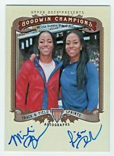 2013 Goodwin Champions Autographs Lisa and Miki Barber Track Olympic Sprinters