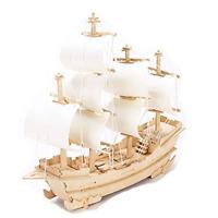 Best 3D sailboat DIY Wooden Jigsaw Puzzle Toy /Hobby Decorative Merchant Ship