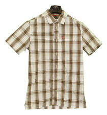 Fjallraven Stoat Shirt Short Sleeve Check Outdoor Travel Size Small Slimmer Fit