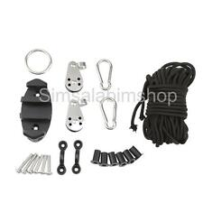 Kayak Canoe Anchor Trolley Kit With Well Nuts Carabiners Rope Accessories