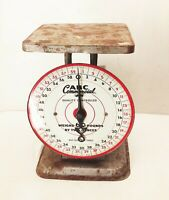Vtg antique ABC commercial metal weigh weighing kitchen store countertop scale