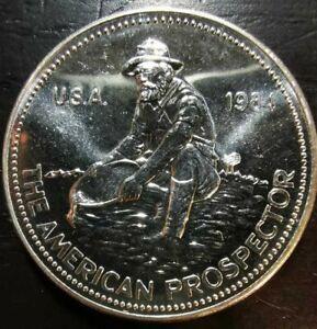 1984 American Prospector 1 oz Silver Round Engelhard .999 Fine