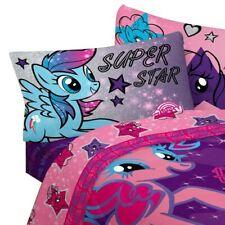 3pc MY LITTLE PONY TWIN SHEET SET Pinkie Pie Twilight Sparkle Stars Out Bedding