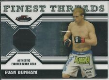 Evan Dunham 2011 Topps Finest UFC Finest Threads Fighter Relics Card # RED