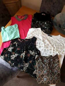 Ladies Bundle Of Summer Clothes Size 12 Tops X6 items VGC