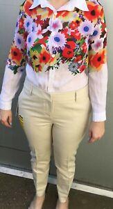 Hilary Radley Womens Sit at the Waist Slim Leg Capri Pant Cream/Beige 27''Inseam