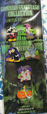 DISNEY HALLOWEEN GHOULISH GRAVEYARD 6 PIN COLLECTOR'S STITCH TINKER BELL SET MOC