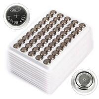 Lot 50pcs1.5V LR44 Alkaline Coin Button Cell Battery A76 L1154 AG13 357 SR44 G13