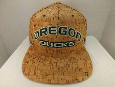 OREGON DUCKS NCAA CORK DYNASTY SNAPBACK CAP Hat FLAT BILL NEW By Zephyr
