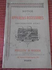 Notice les appareils accessoires de distribution d'eau maison MULLER ( ref 44 )
