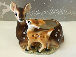 Vintage Retro  Lovely Ceramic Deer Planter