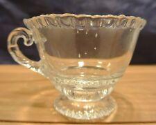 "Vintage Cambridge ""Martha""Clear Glass Cupr with Pie Crust Rim"