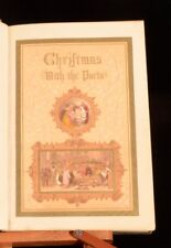1852 Christmas with the Poets Birket Foster Tinted Illustrations Carols SIGNED