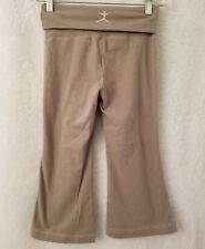 Danskin Womens Green Folded Waist Capris Pants Size M (8 / 10)