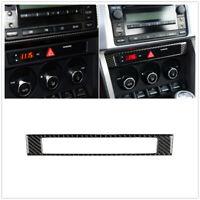 Carbon Fiber Center Console Frame Cover Trim For Toyota 86 Subaru BRZ 2013-17