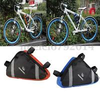 Triangular Bike Frame Tube Saddle Bag Triangle Bicycle Storage Pouch Accessories