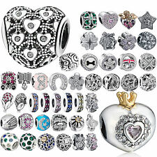 CZ 925 Charms Bead Silver Cubic Zircon Jewelry For Female Sterling DIY Bracelets