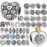 CZ 925 Charms Bead Silver Cubic Zircon Jewelry For Female Sterling DIY Bracelets