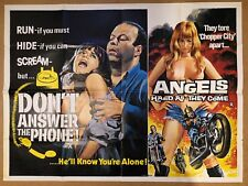Don't answer the Phone - Double Bill, Original British Quad Cinema Movie Poster