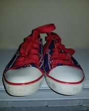 Harajuku Lovers Shoes - Hearts and Nautical Ropes - Size 6 Red White Blue