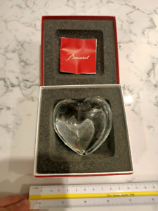 Baccarat Clear Heart Puffed Crystal