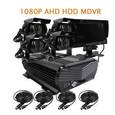 "DIY 1080P 4CH 2.0MP 2TB HDD Hard Disk Car DVR MDVR Video Recorder 7"" LCD Camera"