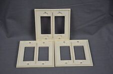 Lutron VWP-2R-BI - 2 Gang Decora Wallplate - Biscuit - NEW - Lot of 3
