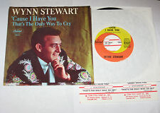 """Wynn Stewart 7"""" 45 HEAR Cause I Have You CAPITOL That's The Only w/PS JUKEBOX"""