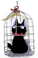 New Kiki's Delivery Service Figure Doll JiJi in the Cage Box Black Cat Japan