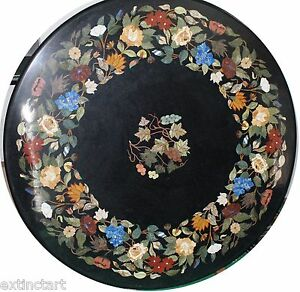 Table Top Royal Pietra Dura Marble Inlay Dining Coffee Centre Table