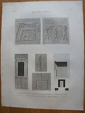 DESCRIPTION DE L'EGYPTE, 1809, ILE DE PHILAE PLANCHE 10