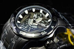 Invicta 48mm Men's Pro Diver Scuba DC Comics Joker Lim Ed Triple Black SS Watch