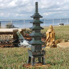 Outdoor Pagoda Statue Japanese Garden Nara Temple Asian Decor Design Lawn Resin