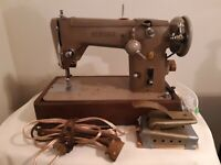 Vintage Singer Sewing Machine Model 306W With Goodies TESTED AND WORKING
