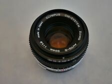Olympus OM-series 50mm F1.8 Vintage Manual Focus Lens w/ Caps