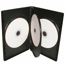 100 X CD DVD 14mm Black DVD 4 Way Case for 4 Disc - Pack of 100