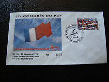 FRANCE - enveloppe 21/12/1990 27e congres du PCF (cy7) french (W)
