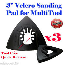 "3x  Oscillating Multi Tool 3"" Sanding Pad Black & Decker Porter Cable Rockwell"