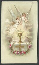 Estampa antigua el Caliz andachtsbild santino holy card santini