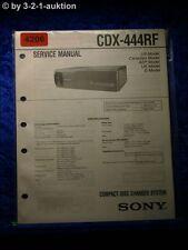 Sony Service Manual CDX 444RF CD Player  (#4206)