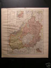 Old Landkarte map Provinz Hessen Nassau kreis Rinteln