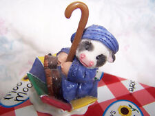 Vintage Marys Moo Moos 1997 You Keep Moo Afloat Baby Cow Umbrella Raincoat Rain
