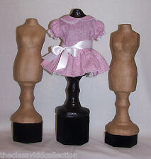 Paper Mache Dress Form for Displaying Doll Clothes (One)