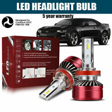 H11 H8 H9 LED Fog Light Bulbs Conversion Kit Premium 6000K White 60W Lamps DWI