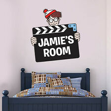 Where's Wally Wall Sticker - Movie Slate Personalised Art Decal Mural Vinyl
