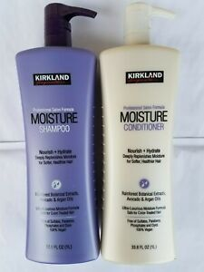 Kirkland Signature Shampoo & Conditioner Moisture 33.8 fl oz ea Sulfate Free 1Lt