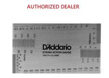 D'Addario Guitar String Height Gauge 10 in 1 Set Up Tool PW-SHG-01
