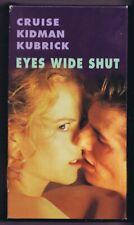Eyes Wide Shut (1999) Vintage Vhs Cassette Stanley Kubrick Tom Cruise